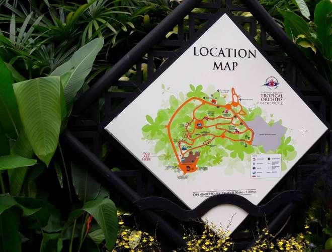 Ogród Orchidei Mapa